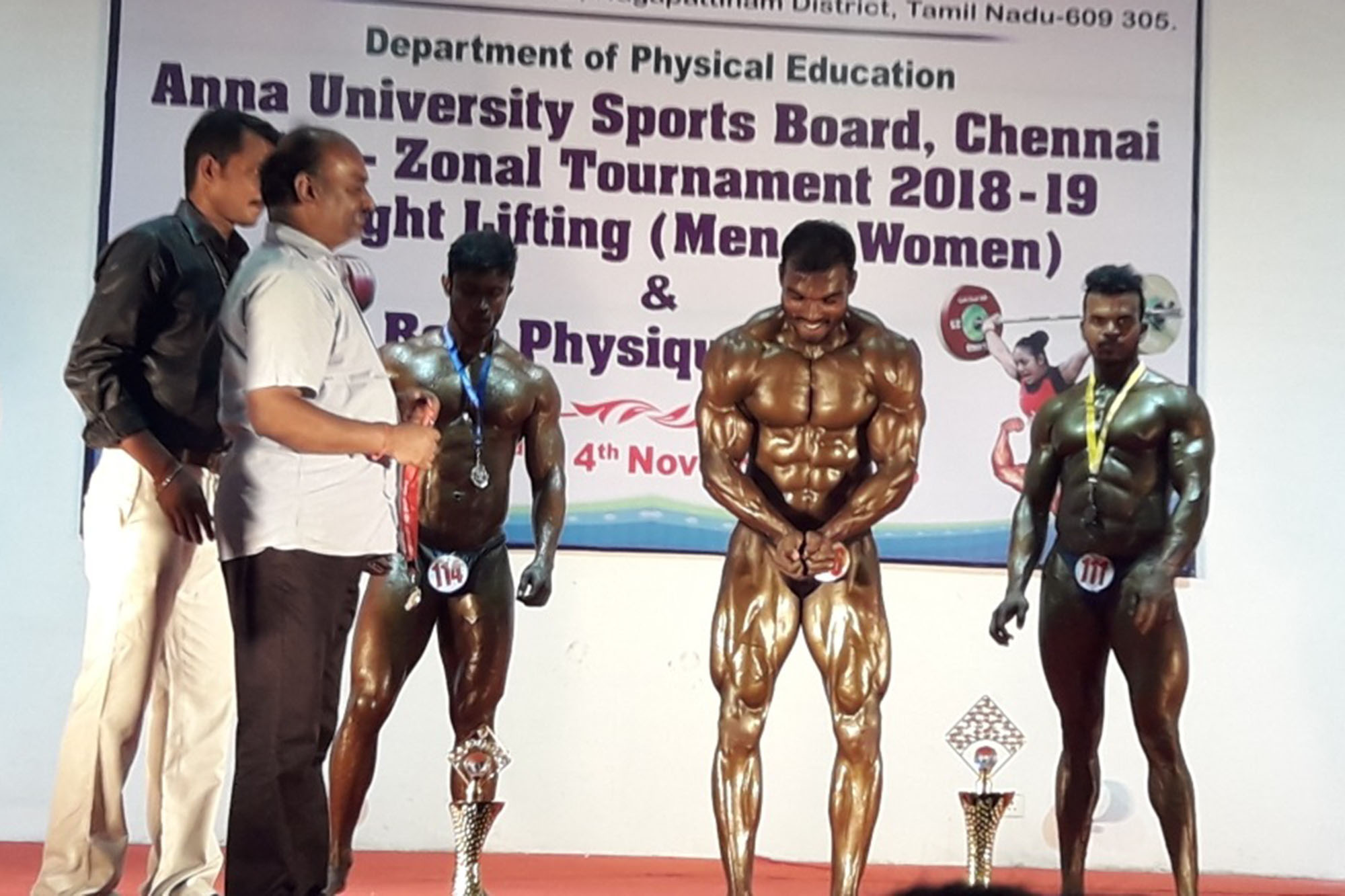 Gold Medal in Best Physique