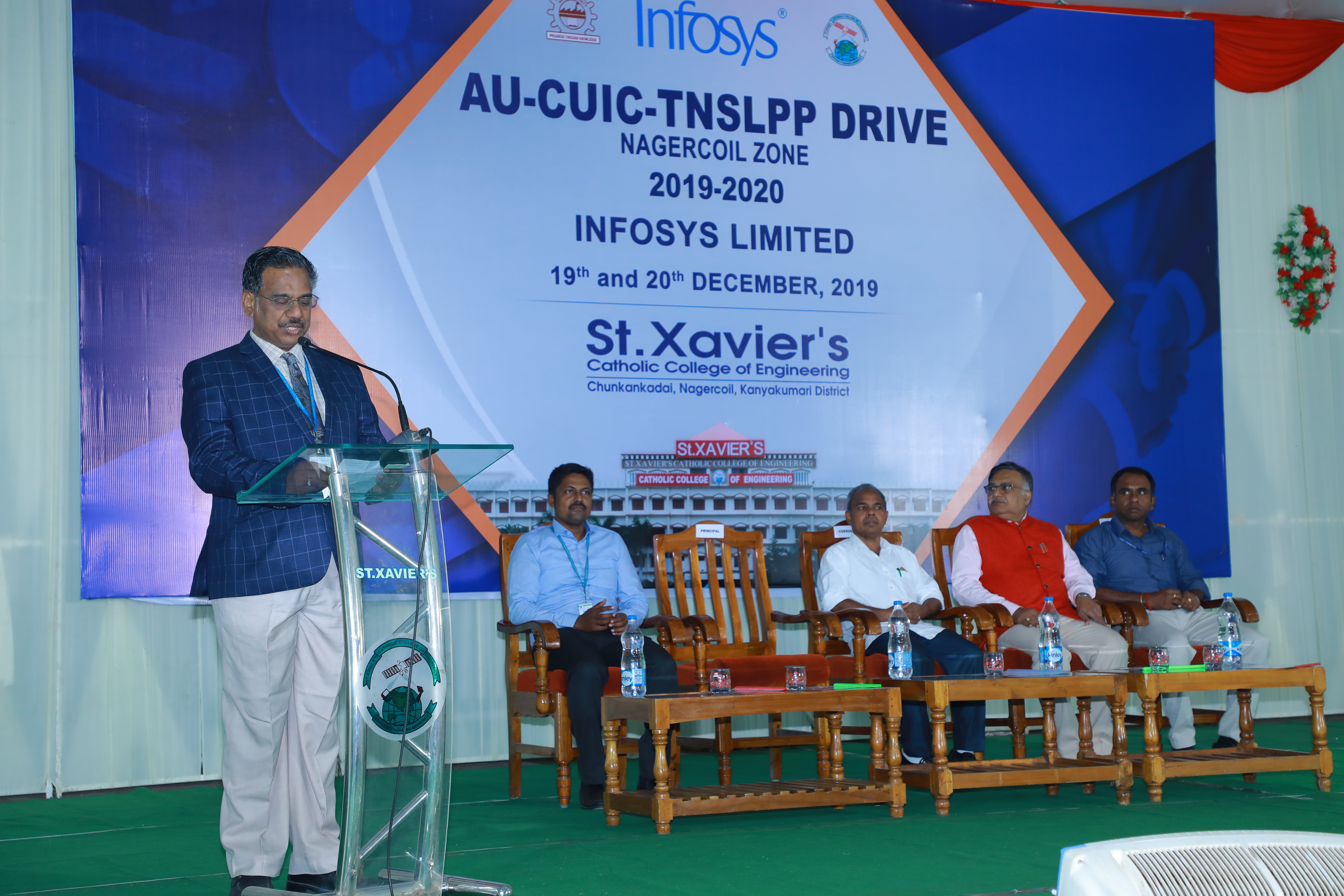 AU -TNSLPP Infosys Campus Placement Drive on 19th & 20th Dec 2019