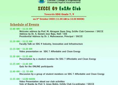 SXCCE G9 SDG Conclave 2020